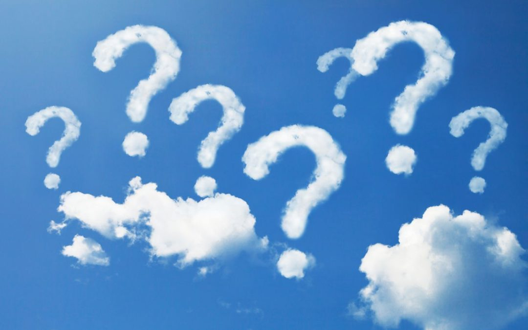 uncertainty question mark clouds