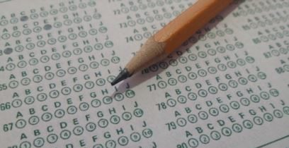 scantron test with pencil